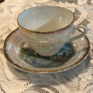 Missouri demitasse teacup and saucer
